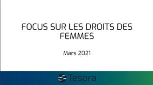 RSE : TESORA SE QUESTIONNE SUR LES DROITS DES FEMMES